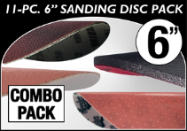 "6"" Sanding Disc Sampler Combo Pack"