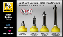 Spot-Buff Backing Plates w/Extensions