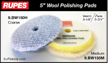 "Rupes 5"" Wool Buffing Pads"
