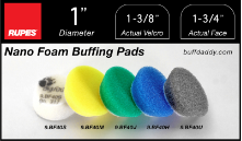 "Rupes 1"" Foam Buffing Pads"