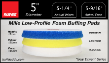 "Rupes 5"" Mille Low Profile Foam Buffing Pads"