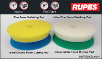 "Rupes 5"" Foam Buffing Pads"