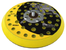 "Mirka 6"" Diameter Soft-Edge Backing Plate - Abranet/Autonet"