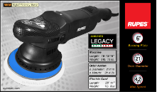 "Rupes MARKll BigFoot 6"" Electric Random Orbital Polisher"