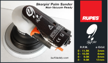 "Rupes Skorpio 6"" Air-Powered Random Orbital Palm Sander"