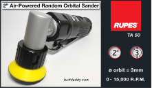 "Rupes 2"" Air-Powered Mini Random Orbital Sander/Polisher"