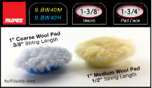 "Rupes 1"" Wool Buffing Pads"