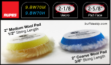 "Rupes 2"" Wool Buffing Pads"