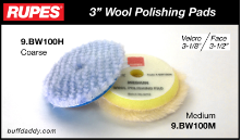 "Rupes 3"" Wool Buffing Pads"