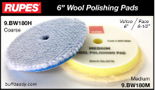 "Rupes 6"" Wool Buffing Pads"