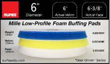 "Rupes 6"" Mille Low Profile Foam Buffing Pads"