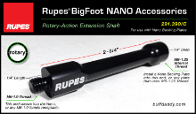 Rupes Nano Rotary-Action Extension Shaft