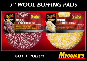 "Meguiar's 7""  Wool Buffing Pads"