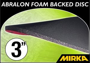 "Mirka Abralon® 3"" Foam Backed Disc"