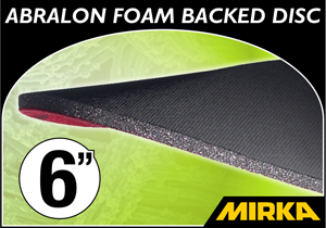 "Mirka Abralon® 6"" Foam Backed Disc"
