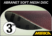 "Mirka Abranet® Soft 3"" Foam Backed Mesh Disc"