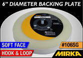 "Mirka 6"" Diameter Backing Plate - Hook Face"