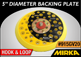 "Mirka 5"" Diameter Firm-Edge Backing Plate"