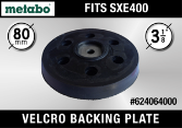 "Metabo 3-1/8"" Velcro Backing Plate"
