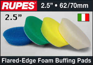 "Rupes 2.5"" Foam Buffing Pads"