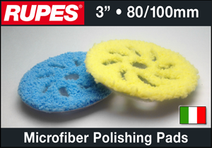 "Rupes 3"" Microfiber Polishing Pads"