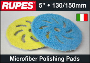 "Rupes 5"" Microfiber Polishing Pads"