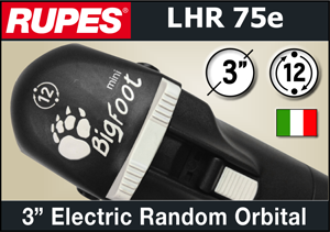 "Rupes BigFoot 3"" Electric Mini Random Orbital Polisher"