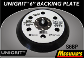 "Meguiar's Professional 6"" Backing Plate- Micro Hook"