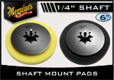 "Meguiar's Gold Class 6"" Shaft-Mount Buffing Pads"
